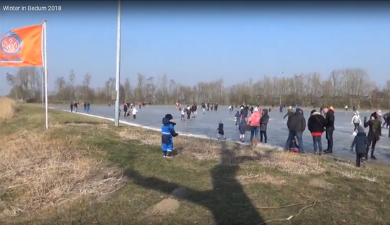 Video Winter in Bedum met Schaatspret